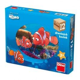 DINOTOYS - Drevené kocky Nemo 12 ks