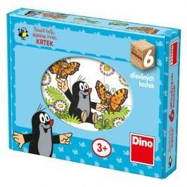 DINOTOYS - Drevené kocky Veselý krtko 6 ks