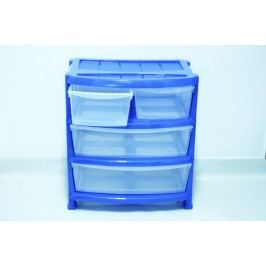 Skrinka 4 zásuvky - modrá