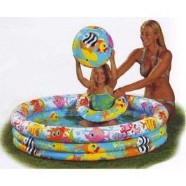 detský nafukovací bazén Rybky 132x28cm
