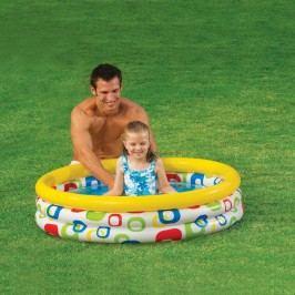 nafukovací detský bazénik s geometrickými vzormi 59419