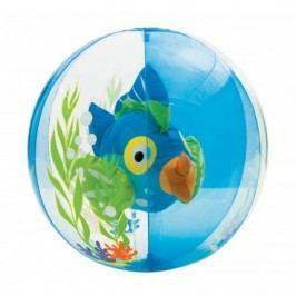 nafukovacia lopta akvárium s rybkou - modrá
