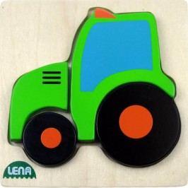 LENA - Drevené puzzle Traktor 32079 - FSC