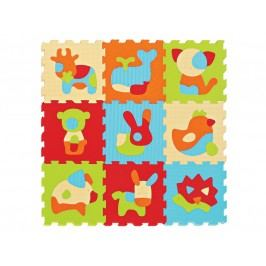 LUDI - Puzzle penové 90x90cm Zvieratka