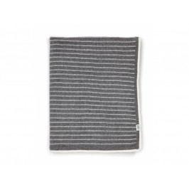 MAMAS & PAPAS - Pletená deka šedé prúžky