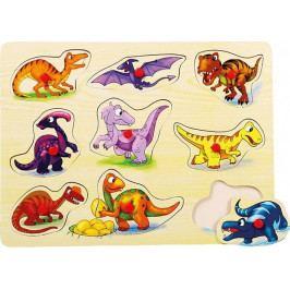 BINO - 88099 Puzzle na doske dinosaury
