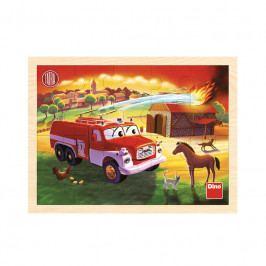 DINO - Tatra hasiči 20D drevené puzzle