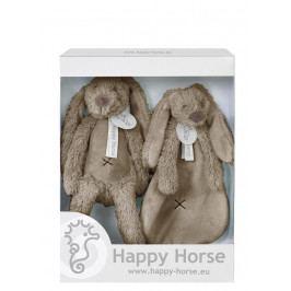 HAPPY HORSE - darčekový set králik Richie - Hnedý
