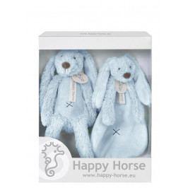 HAPPY HORSE - darčekový set králik Richie - Modrý