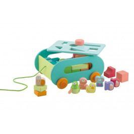 SEVI - Vozík s kockami rôznych tvarov - Zvieracie dobrodružstvo