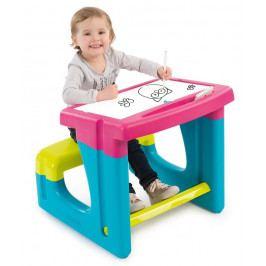 SMOBY - 420102 Školská lavica s tabuľou ružová