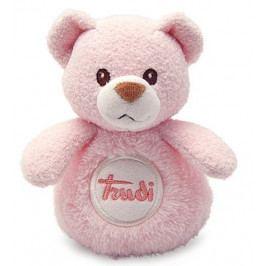 TRUDI - Mini plyšák so zvukmi Macko - ružový