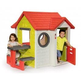 SMOBY - 810401 Domček My house s piknikovým stolčekom