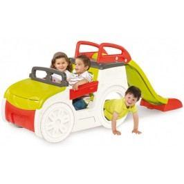 SMOBY - preliezačka Adventure Car s pieskoviskom a šmykľavkou 840200