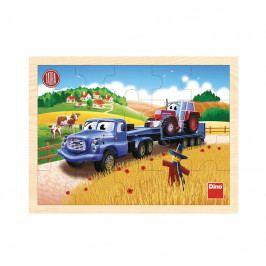 DINO - Tatra ťahač 20D drevené puzzle
