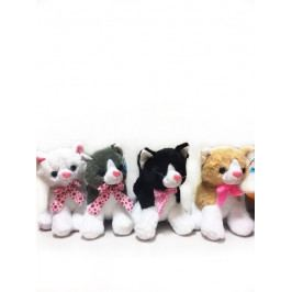 MIKRO TRADING - Mačka sediaca plyšová 24cm