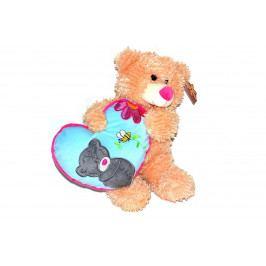 WIKY - Medvedík so srdcom 36cm