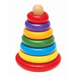 WOODY - Skladacia pyramída farebná 90003