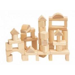 WOODY - Stavebnica drevená prírodná 50 ks