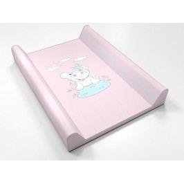 ANTONY FASHION - Montovací prebaľovací pult (ružový) - sloník, veľkosť: 70x50x9 cm