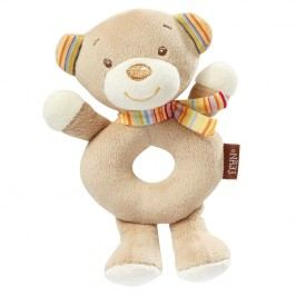 BABY FEHN - Rainbow mäkký krúžok medvedík