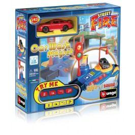 BBURAGO - Playset Car Wash - Umývačka s jedným autíčkom