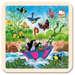 Bino - 13722 Puzzle Krtko s dáždnikom