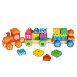 Bino - 82142 Vláčik s domčekmi