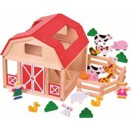 BINO - 82221 drevená farma so zvieratkami