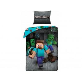 Halantex Povlečení Minecraft 207BL 140x200/70x90 cm