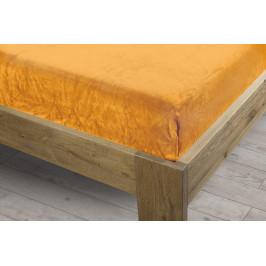 Homeville prostěradlo mikroplyš 90x200 cm žlutá