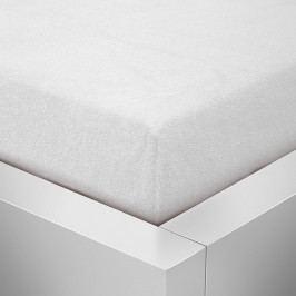 Homeville froté prostěradlo české výroby bílá 30cm výška - 100x220 cm