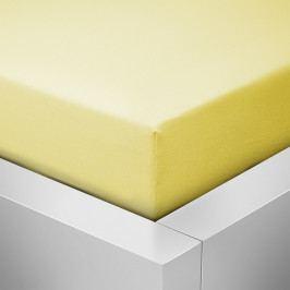 Homeville jersey prostěradlo české výroby světle žlutá 30cm výška - 100x220 cm