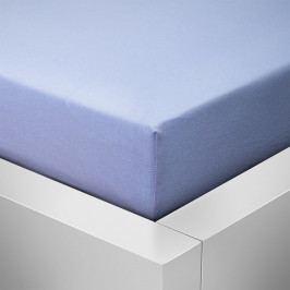 Homeville jersey prostěradlo české výroby světle modrá 30cm výška - 100x220 cm