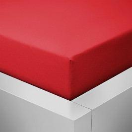 Homeville jersey prostěradlo české výroby červená 30cm výška - 100x220 cm