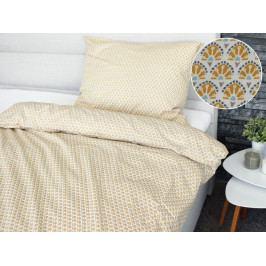 Homeville povlečení 100% bavlna Asta žlutá 140x200cm+70x90cm