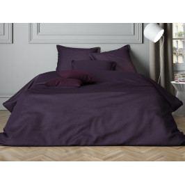 Mistral Home povlečení bavlněný satén Uni Purple - 140x200 / 70x90 cm