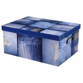 Home collection Úložné krabice 49,5x39x24cm jeansová