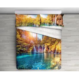 Gipetex Natural Dream 3D italské povlečení 100% bavlna Cascata - 140x220 / 70x90 cm