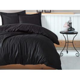 Cottonbox povlečení bavlněný satén Stripe black - 140x220 / 70x90 cm