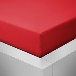 Homeville jersey prostěradlo ELASTIC červená - 100x220 cm