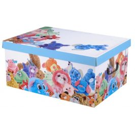 Home collection Úložné krabice MINI 37x31x16cm plyšová zvířátka