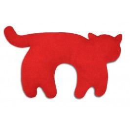 Leschi Cestovní polštářek kočka Feline 46x25cm červená/černá