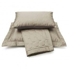 Luxusný saténový prehoz na posteľ Sand - piesková - 260x260 cm