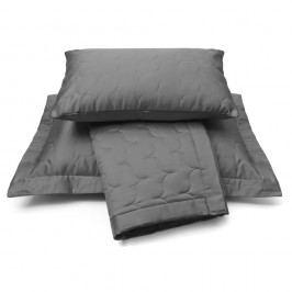 Luxusný saténový prehoz na posteľ Anthracite - tm. šedá - 260x260 cm