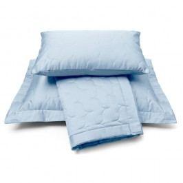 Luxusný saténový prehoz na posteľ Dusty blue - sv. modrá - 180x260 cm