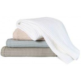 Luxusný prehoz na posteľ Home Piqué waffle Mole grey - šedá - 270x250 cm