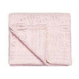 Háčkovaný prehoz na posteľ 180x240 cm Light pink - ružová