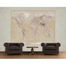 1Wall 1Wall fototapeta Geografická mapa sveta 158x232 cm
