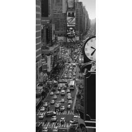 1Wall 1Wall fototapeta Times square čiernobiely 95x210 cm